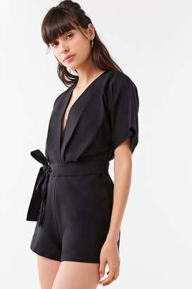 Urban Outfitters Ruby Linen Surplice Jumpsuit