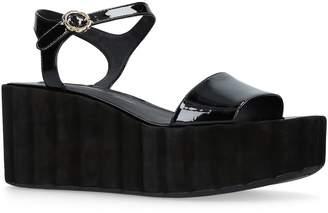 Salvatore Ferragamo Patent Tropea Platform Sandals