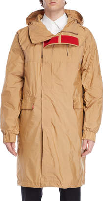 Jil Sander Crinkle Hooded Trench Coat