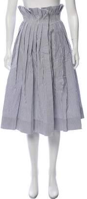Thom Browne Pinstripe Midi Skirt