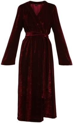 ONCE MILANO Bell-sleeved velvet robe
