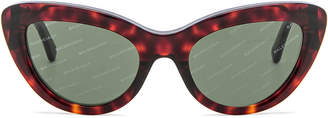 Balenciaga Cat Eye Sunglasses in Red Havana | FWRD