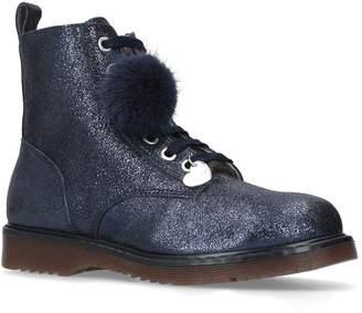 MonnaLisa Glitter Pom Pom Boots