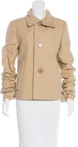pradaPrada Button-Up Long Sleeve Coat