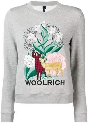 Woolrich embroidered design sweatshirt