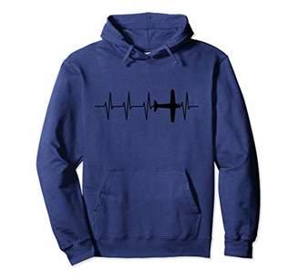 Airplane Pilot Heartbeat Flying Plane Aviation Hoodie