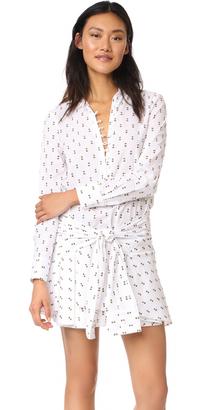 Derek Lam 10 Crosby Tie Waist Shirtdress with Button Detail $395 thestylecure.com