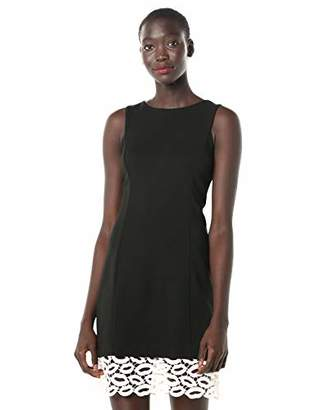 Betsey Johnson Women's Sheath Dress with Lip Lace Hem