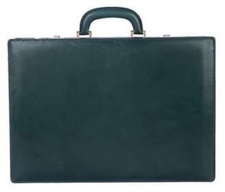 Bottega Veneta Marco Polo Embossed Briefcase