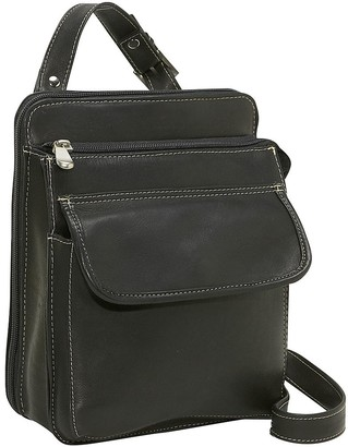 Le Donne Leather Structured Organizer ShoulderBag