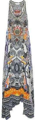 Camilla Heart Of Hong Embellished Printed Silk Maxi Dress
