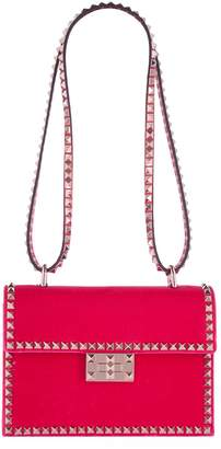Valentino Velvet Rockstud No Limit Shoulder Bag