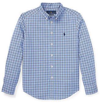 Ralph Lauren Plaid Stretch Cotton Shirt