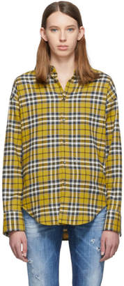 DSQUARED2 Yellow Plaid Easy Dean Shirt