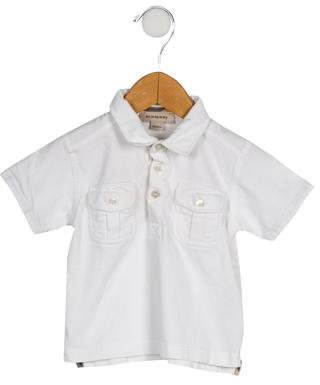Burberry Boys' Collared Short Sleeve Shirt