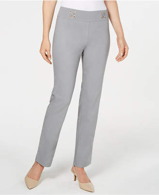 JM Collection Petite Lace-Up Pants