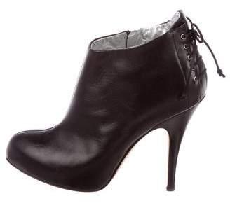 Giuseppe Zanotti Lace-Up Leather Booties