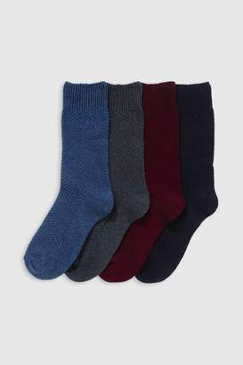 Next Mens Colour Texture Heavyweight Socks Four Pack