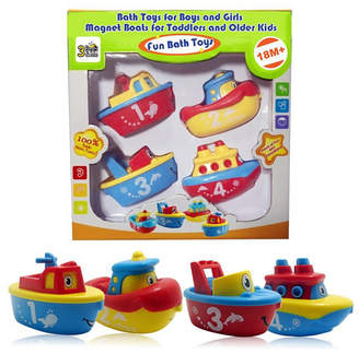 Me! Bath 3 Bees and Me Bath Toys Magnetic Boat Set