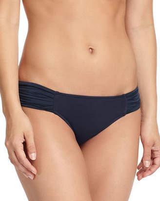 Seafolly Pleated-Side Hipster Swim Bikini Bottom