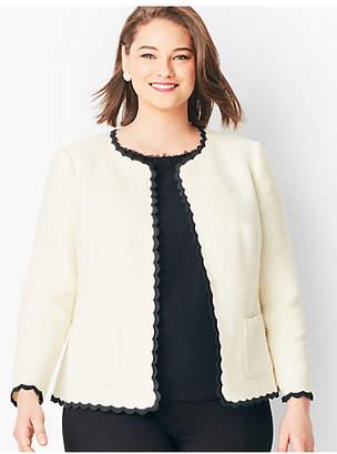 Talbots Cotton Tweed Scallop-Edge Jacket