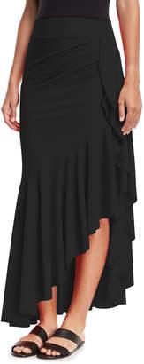 Chiara Boni Josephine Ruffled-Hem Coverup Skirt