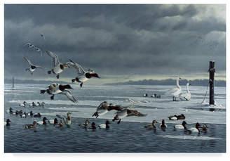 "Goebel Wilhelm 'Chop Tank Gathering' Canvas Art - 16"" x 24"""
