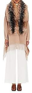 Barneys New York Women's Wool-Blend Fur-Trimmed Cape - Beige, Tan
