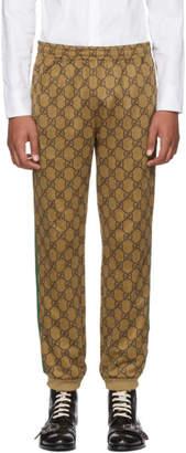 Gucci Tan GG Vintage Track Pants