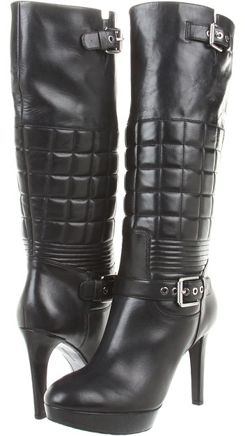 Rockport Janae Quilted Tall Boot (Black) - Footwear