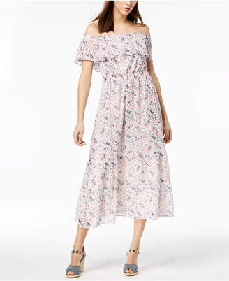 Maison Jules Off-The-Shoulder Maxi Dress, Created for Macy's