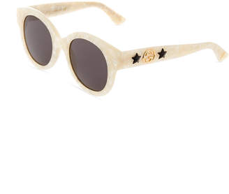 18042c48bd5 Gucci Round Acetate Star Sunglasses
