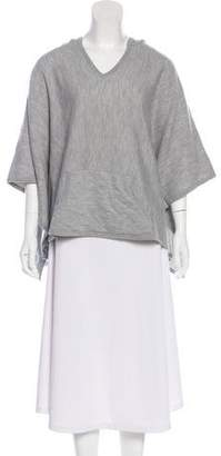 Vince Wool Hooded Poncho