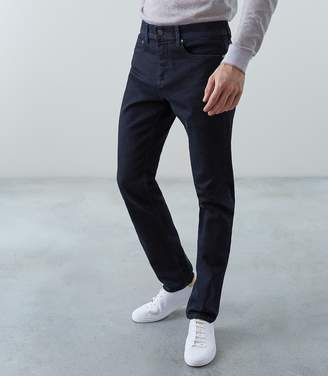 Reiss Our last order date for Christmas has now passed WESTERN SLIM FIT JEANS WITH STRETCH Indigo