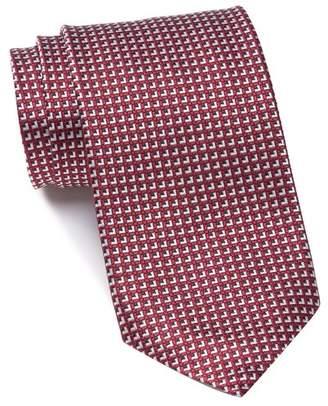 Ermenegildo Zegna Silk Squares Grid Tie