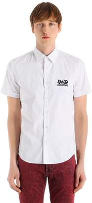 Love Moschino Slim Stretch Poplin Short Sleeve Shirt