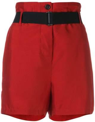 Ann Demeulemeester belted high-waist shorts