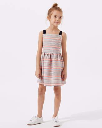 Jigsaw Strappy Striped Jacquard Dress