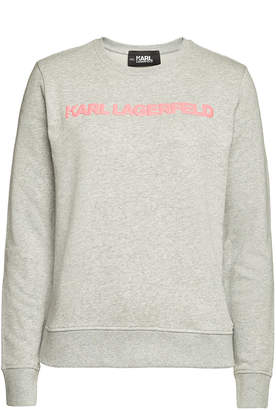Karl Lagerfeld Paris Neon Lights Embellished Cotton Sweatshirt