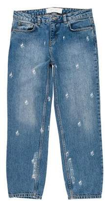 IRO Mid-Rise Cropped Jeans