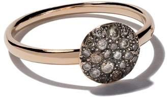Pomellato 18kt rose gold small Sabbia brown diamond ring