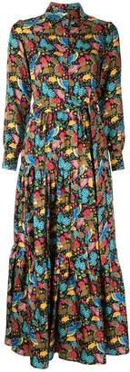 Dragon Optical La Doublej flower print shirt dress