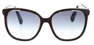 Oscar de la Renta Round Jewel-Embellished Sunglasses