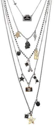 "Karl Lagerfeld Paris Love From Paris Layered Statement Necklace, 17""-32"""