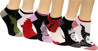 Disney Women 6-Pk. Assorted Villains No-Show Socks