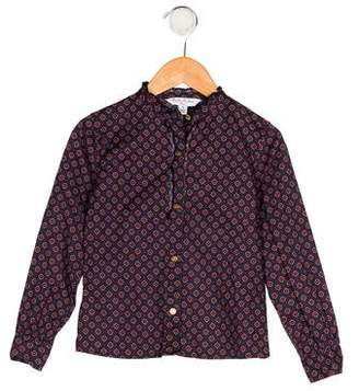 Brooks Brothers Girls' Printed Button-Up Blouse