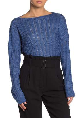 Moon River Boatneck Knit Sweater