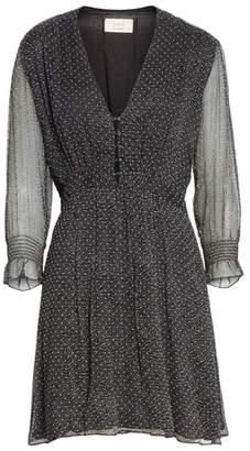 BA&SH Dolly Dotted Silk Mini Dress