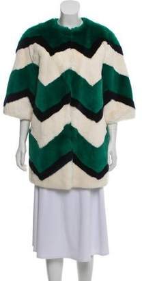 P.A.R.O.S.H. Short-Sleeve Fur Coat