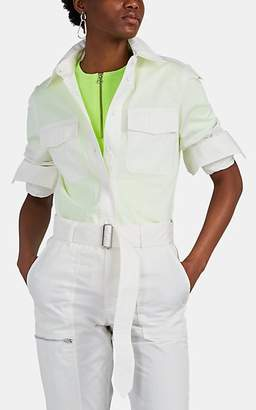 Helmut Lang Women's Cotton-Blend Twill Utility Shirt - White